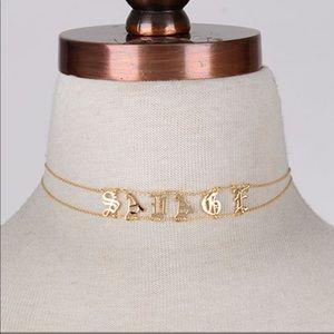 """Jewelry - New Trendy Style✨ """"SAVAGE"""" Gold Choker😍"""